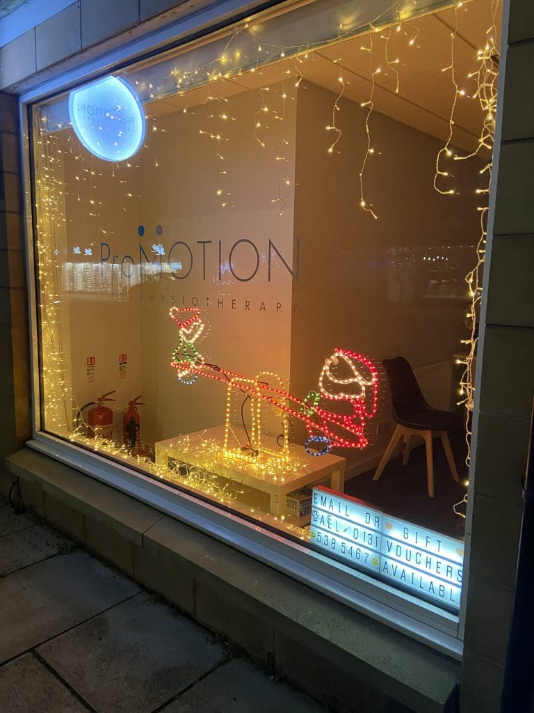 ProMOTION Physiotherapy Christmas Window